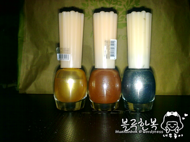 My favorite frosted polishes! Nature Republic's Color Waltz Nail Polish (1,000won each/1$/60php)